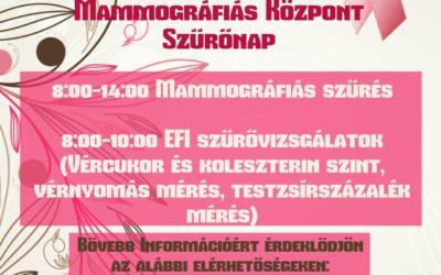 Mammográfiás Központ szűrőnap – 2017.02.18.