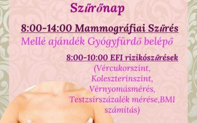 Mammográfiai szűrés – 2017.01.28.