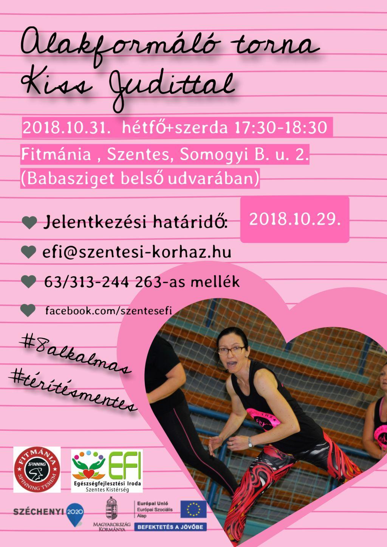 Alakformáló torna Kiss Judittal - 2018.10.31.