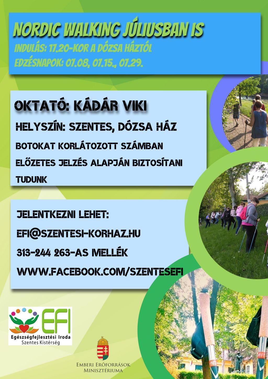 Nordic Walking júliusban is