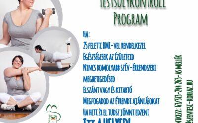 Testsúlykontroll csoport indul november is