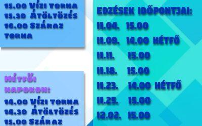 Ingyenes Gyógytorna a Fürdőben Novemberben szerdánként 1. csoport